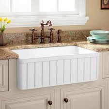 Old Kitchen Sinks With Drainboards by White Kitchen Sink Signature Hardware