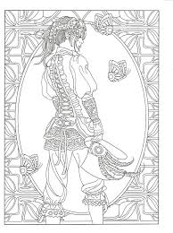 Adult Coloring Page From Creative Haven Steampunk Fashions Book Dover