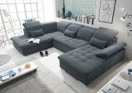 funktionale wayne sofa schlafcouch bettsofa schlafsofa sofabett wohnlandschaft ausziehbar anthrazit ottomane links u form