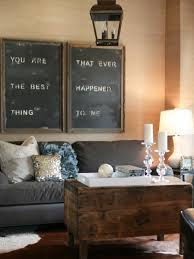 DIY Large Chalkboard Art In A Cozy Living Room You Could Make