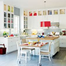 White Kitchen With Color Accessories 2