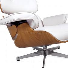 Eames Style Lounge Chair And Ottoman White Leather ASH ... Replica Eames Lounge Chairottoman Black Cowhide Leather Classic Lounge Chair Ottoman In 2019 Fniture And Restoration Ndw Design Blog A Guide For Buying Your Part I Best Herman Miller Mhattan Home Reinvents The Shock Mounts Of Full Aniline Platinum Reviews Find Buy Sand Collector