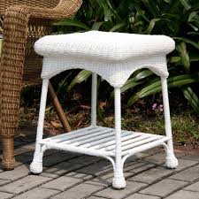 Outdoor White Resin Wicker End Table, White Patio Table 56 Inc ... Bar Height Patio Fniture Costco Unique Outdoor Broyhill Wicker Newport Decoration 4 Piece Designs Planter Where Is Made Near Me Planters Awesome Decor Tortuga Bayview Driftwood 3piece Rocking Chair Set With Tan Cushion Patio Fniture Rocking Chair Peardigitalco Contemporary Deck Serving Tray