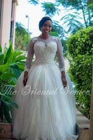 Custom Made Ball Gown African Wedding Gowns Plus Size Long Sleeves