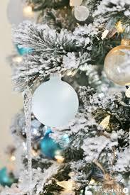 Sea Glass Ornaments Coastal Christmas Tree