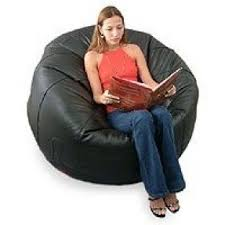 NOVICA Leather Beanbag Chair Cover