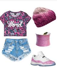 Shoes High Waisted Shorts Beanie Snake Skin Print Pink Jordans Cute Outfits Tumbrl Outfit