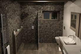 modernes badezimmer im landhausflair mit freier dusche n