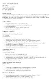 Personal Banking Resume Objective Banker Resumes Examples Cover Letter