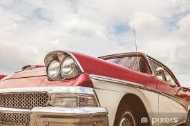 fototapete seitenansicht eines 50er jahre getönten amerikanischen autos