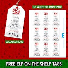 Editable Printable Gift Tags Elf Wwwtopsimagescom