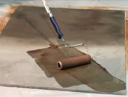 concrete stains can make plain floors look like colored or