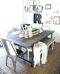 Long Farmhouse Dining Table Style Room Decorations