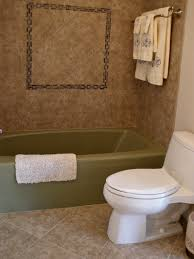Tiling A Bathtub Surround by Remodelaholic Master Bathroom Redo With Tile Shower And Tub Surround