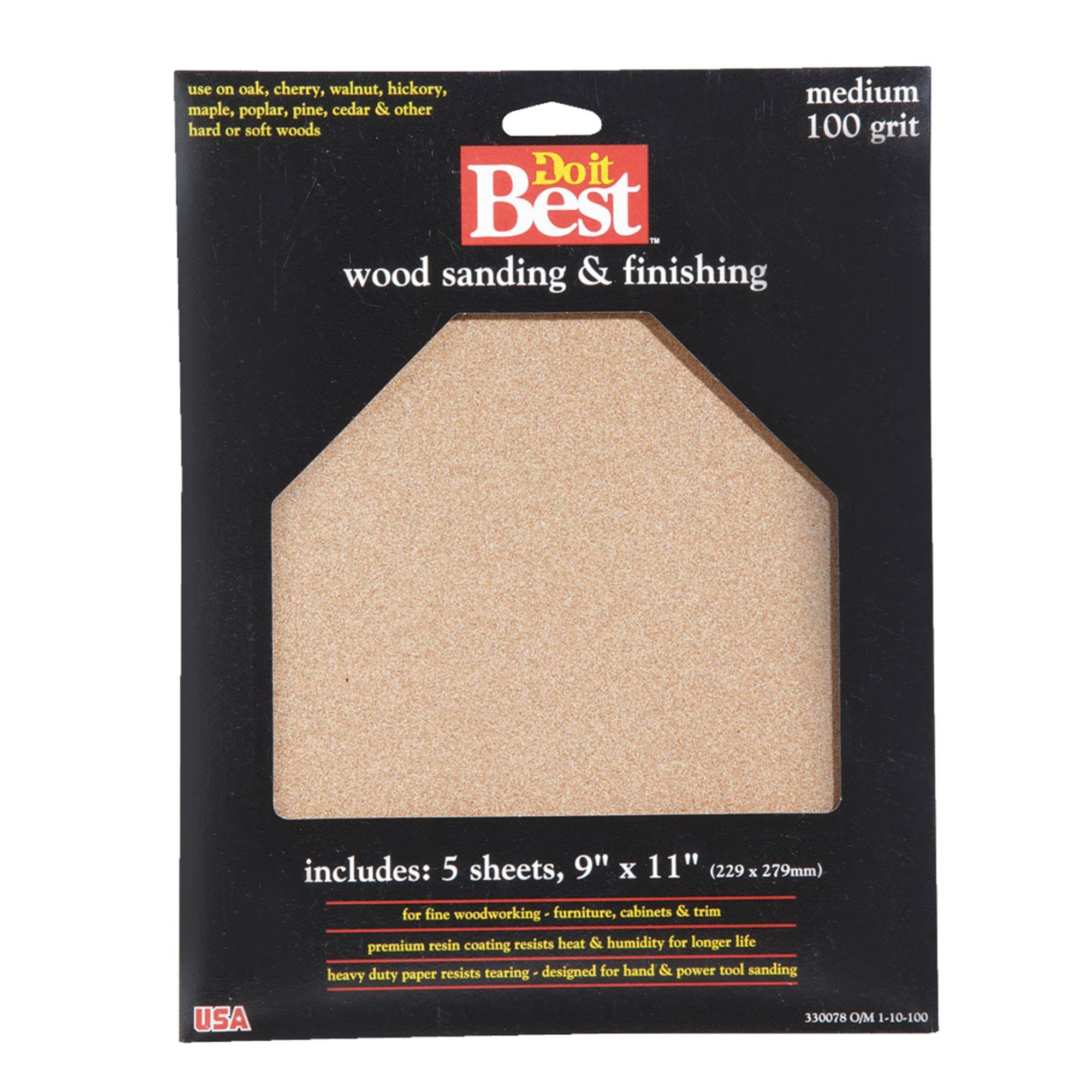 Do it Best Sandpaper - Garnet, Medium