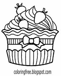 Easy kids Party cake blue almond nut blueberry cupcake coloring in drawings for teens sugar toppings