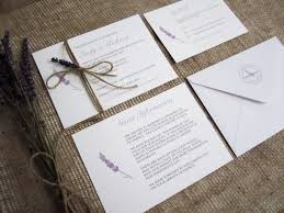 Rustic Lavender Wedding Invitation Suite