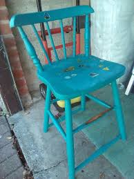 Antique Vintage Wooden Childs Captain High Chair Painted Blue | In  Salisbury, Wiltshire | Gumtree