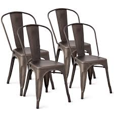Costway Tolix Style Dining Chairs Metal Industrial Vintage Chic High Back  Indoor Outdoor Dining Bistro Café Kitchen Side Stackable Chair Set Of 4 ... 6x High Back Faux Leather Ding Chairs Metal In Ig1 Fulkram Chair Mesh Ashut Engineers Limited Calyx Easy Armchair 2 Pair Brown Padded Seat Chrome Steel Legs Carlisle Silver Ships Flat Vintage Office Chairsstools Oflynn Medical Greywash Garden Details About Set Of Back White Kitchen Caf Side Houseology Collection Marilyn Natural Linen Black High Ding Chairs Cremedelainecom Anita Rod Base By Metrica For Sp01