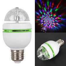 3w 85v 265v e27 rgb rotating led stage light bulbs