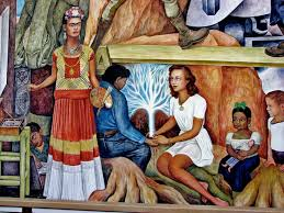 frida kahlo in a mural painted by diego rivera in 1940 it s the