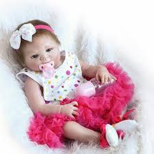22 DIY Unpainted Reborn Baby Doll Kit Lifelike Doll Head Full