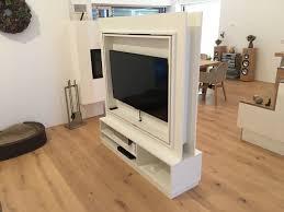 tv möbel als raumteiler weiß beschichtet fh 360