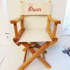 siege metteur en fauteuil metteur en scéne enfant toile ecrue personnalisé au prénom