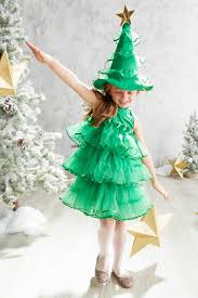 Glitter Tree Dress Costume For Girls