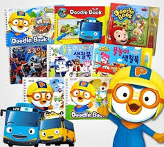Water Coloring Book Collection Korea Popular Character Books Painting With Fun