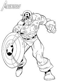 America Coloring Pages Free Colouring Captain Page Fee