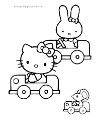Hello Kitty More Free Printable Cartoon Character Coloring Pages