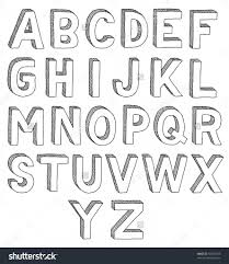Draw 3D Alphabet How To Draw Alphabet Letters In 3D Drawing Arts