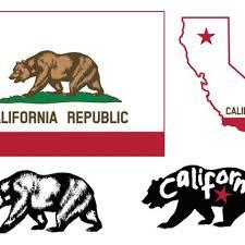 1024x1024 California Bear Outline Pizza Clipart