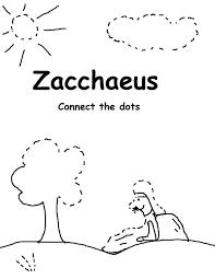 Coloring Sheet Zacchaeus Sunday School Lesson