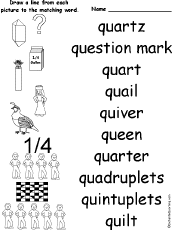 Letter Q Alphabet Activities at EnchantedLearning