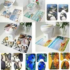 3pcs toilette sitz matte set deckung pad bad weich große