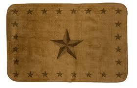 Texas Lone Star Light Chocolate Rug