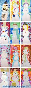 Mixed Media Snowman Kindergarten Art ProjectsSchool