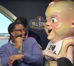 Pelicans mascot King Cake Baby creeps out Tracy McGrady and others