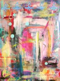 colorful abstract detailed psychedelic abstract paintings and