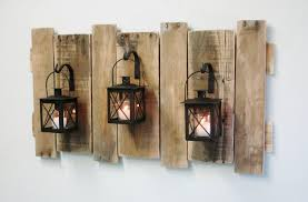 Farmhouse Style Pallet Wall Decor With Lanterns French CountryRustic Decorshabby Chic Decorhome Decorfixer Upper Stylelarge