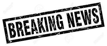 Square Grunge Black Breaking News Stamp Stock Vector