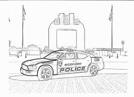 Police Car Coloring Pages Lego Kids