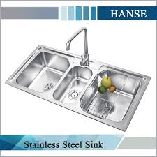 sophisticated k e10850tb stainless steel sink 3 compartment