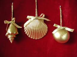 Seashell Christmas Tree Topper by Gold Sea Shell Ornaments 3 On Etsy Lillyholiday новый год