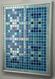 Iridescent Mosaic Tiles Uk by Turquoise Pearl Archipelago Framed Mosaic Accent