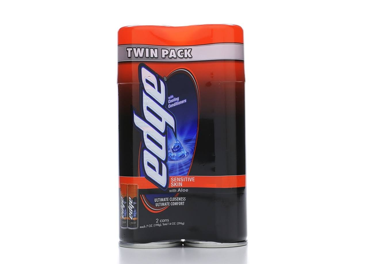 Edge with Aloe Shave Gel Twin Pack - 7oz, 2pk