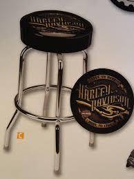 decorating room with harley davidson bar stools
