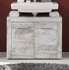 waschbeckenunterschrank shabby vintage weiß pinie waschtisch